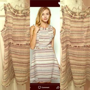 Tweed Sleeveless Dress Size M $15